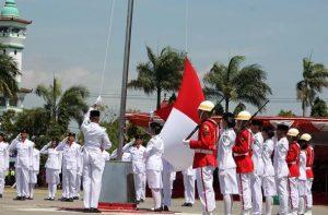 Sambutan Mendikbud Upacara Bendera HUT ke 74 Kemerdekaan RI